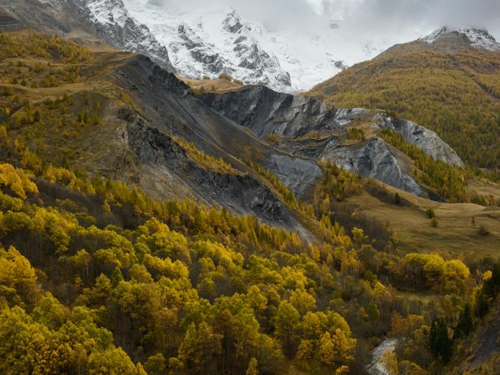 La route du Col du Lautaret à l'automne