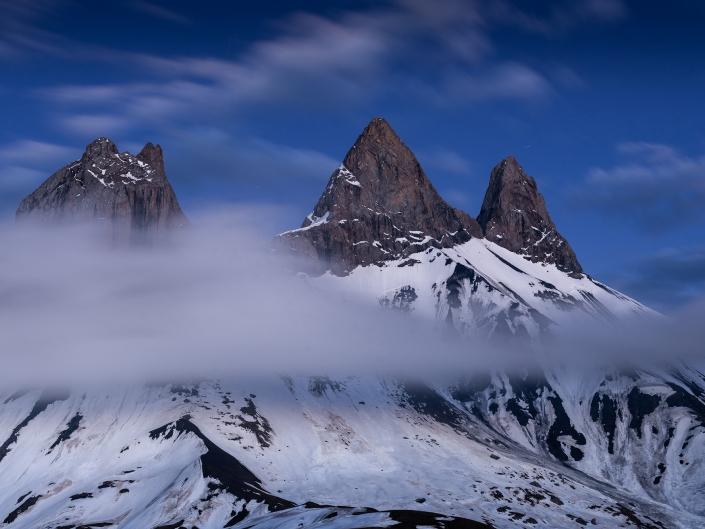 Arves, Aiguilles, Montagne, Mountain, Alpes, Alps, Blue hour, Heure bleue