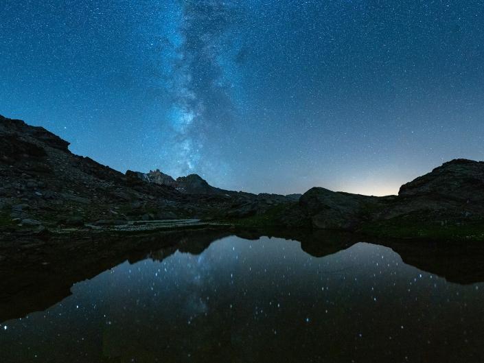 Voie Lactée aux Lacs Giaset (Mont-Cenis)