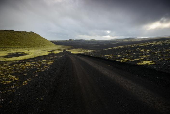 Sur la piste près du Laki en Islande