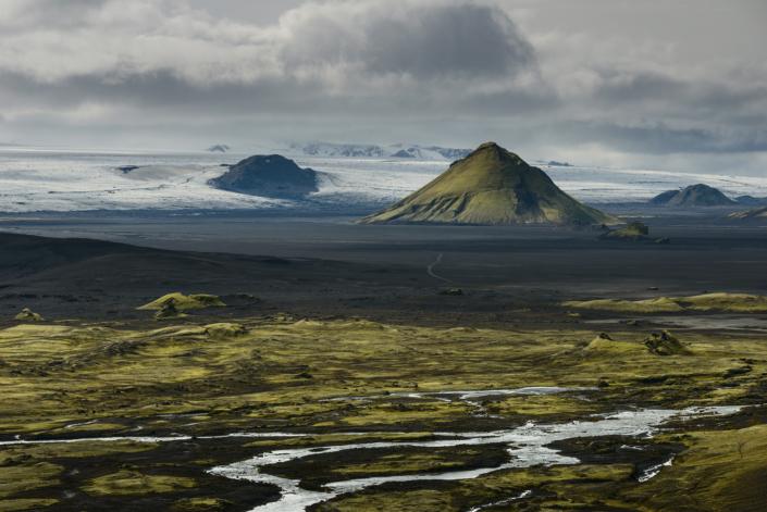Paysages le long de la piste F210 en Islande