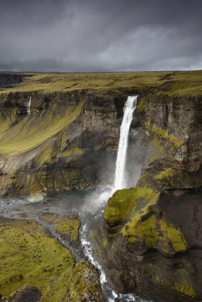 Cascade d'Haifoss en Islande