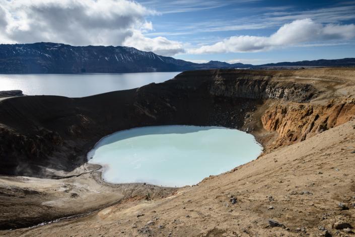 Öskjuvatn et Viti en Islande (Askja)